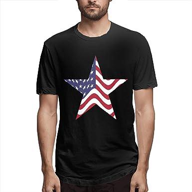 6c1565196 America Star Men's Classic Cotton Short Sleeve Crew T-Shirt Black ...