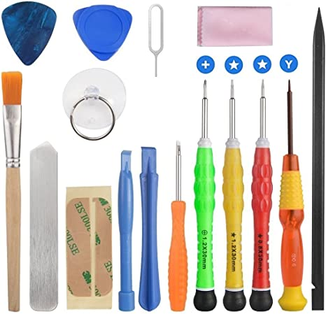compatible with For iPhone For iPad Tablet Screen Repair Removal Pry For Android Phone Opening Tool Spudger 22 Piece Set