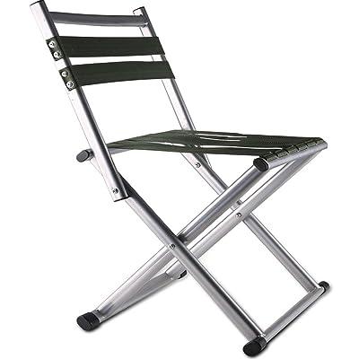 Heruai Pliante chaise dossier Nylon corde tricot siège métal Stent Portable pliant le tabouret militaire Outdoor pêche adulte tabouret respirant