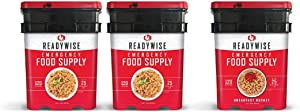 Wise Company Long Term Emergency Freeze-Dried Food Supply, Breakfast and Entree Variety