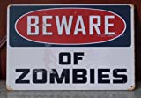Beware Of Zomies Walking Dead Tin Sign Retro Poster Wall Plaque Home Gift Wall Decor 20x30cm