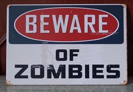Amazon.com: Tenga cuidado con los Zomies Walking Dead cartel ...