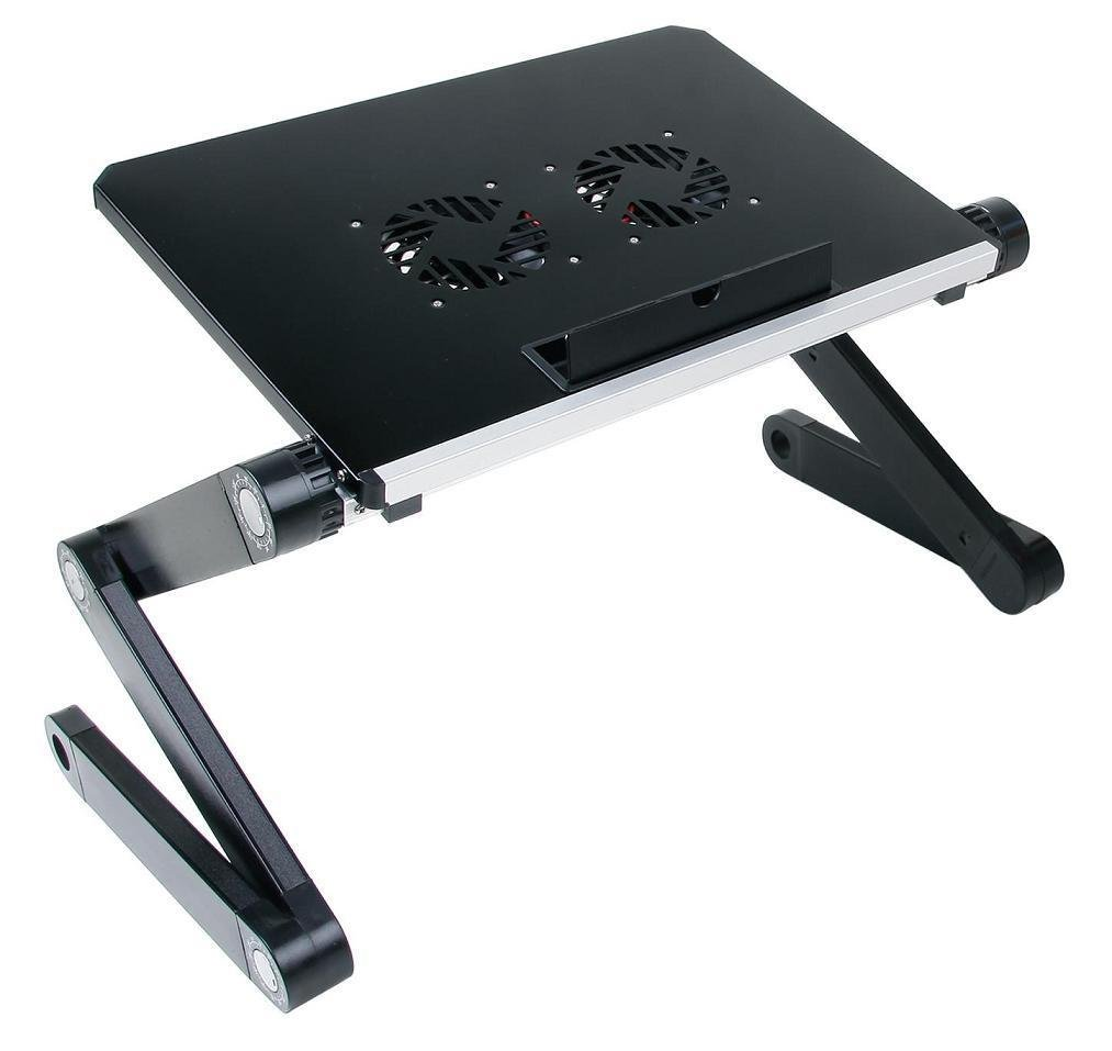 Qiaoba- The Couch Notebook Lapdesk Aluminum Alloy Desk Foldable, Black