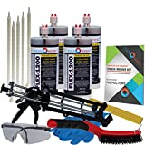 Concrete Floor Crack Repair Kit - Ultra Low Viscosity Polymer - FLEXKIT-1200-40