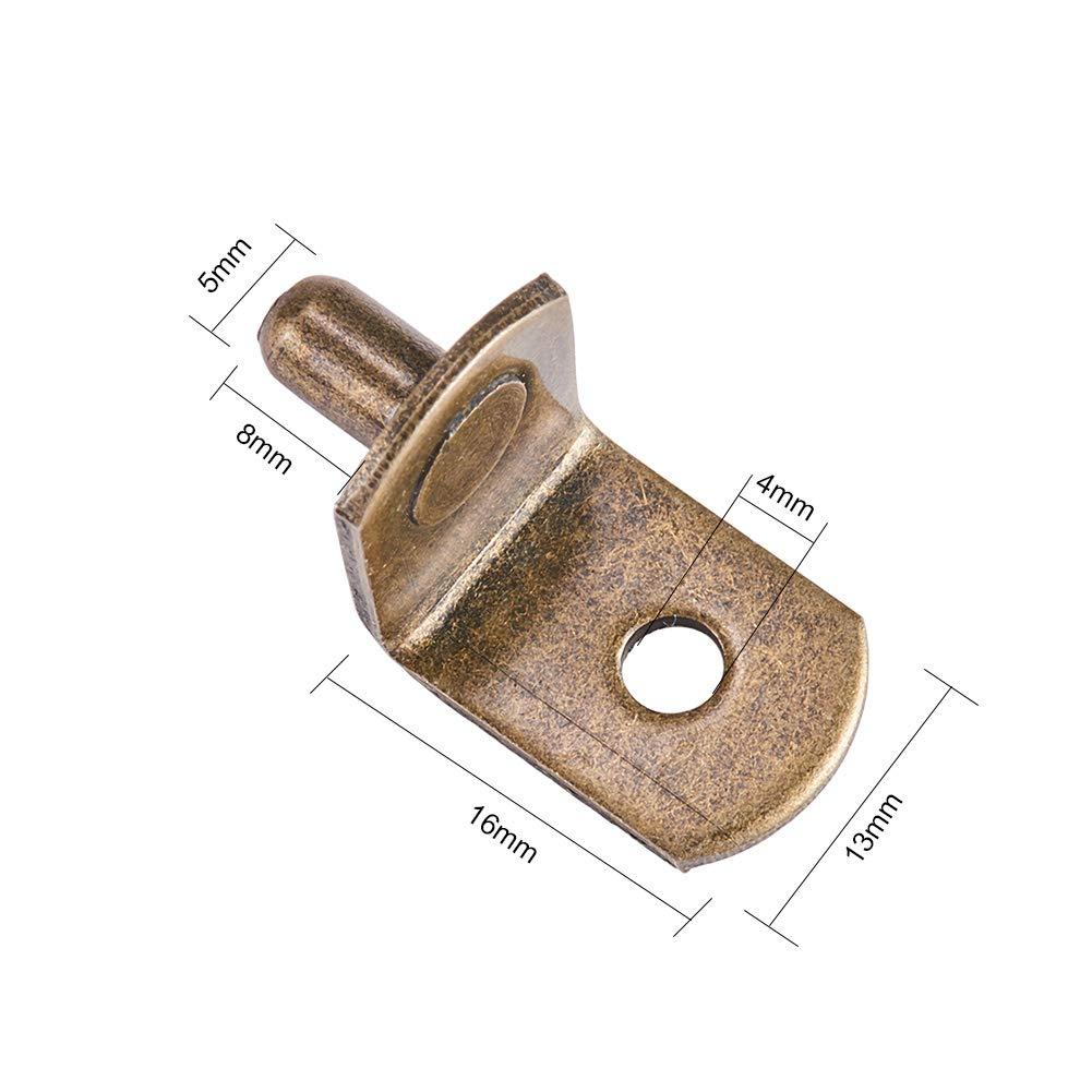 forma de L INCREWAY 50 unidades Pinzas de soporte para estante de armario con agujero