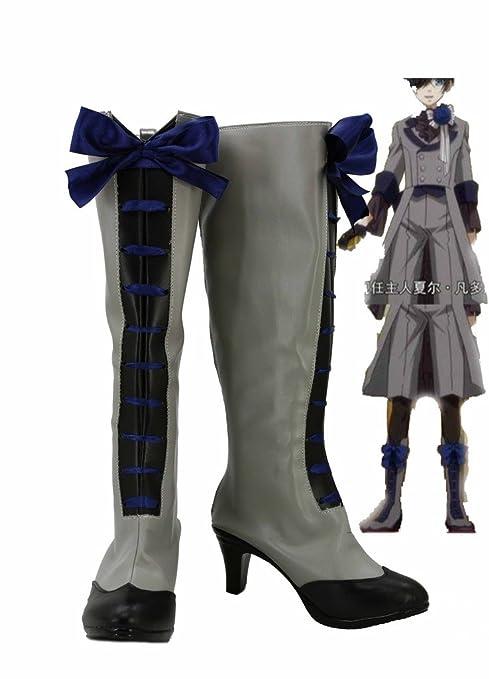 Black Butler 3 Kuroshitsuji Ciel Cosplay Shoes Boots Custom Made