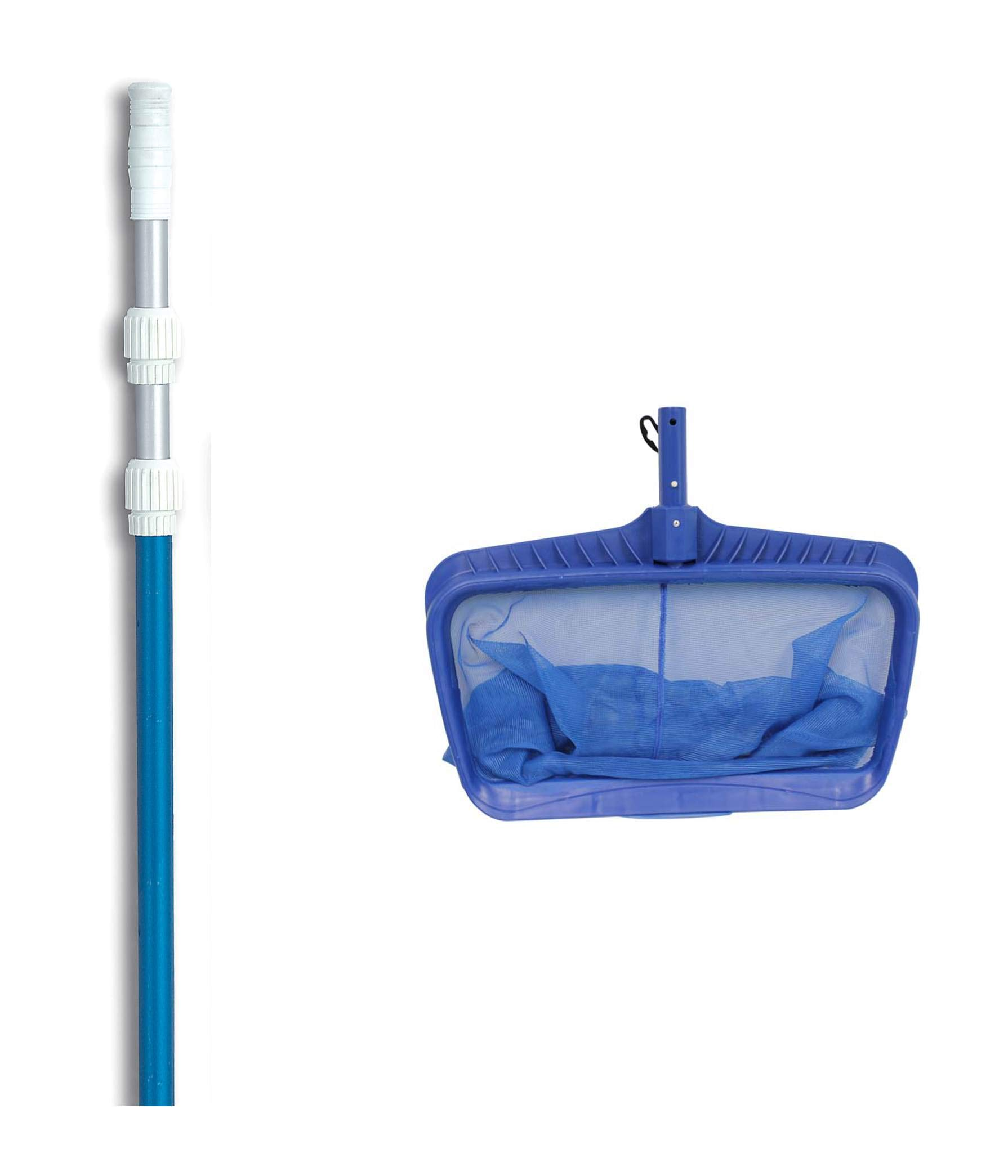 HydroTools 8040 Swimming Pool Deep Bag Leaf Rake Net w/ 5-15' Telescopic Pole by Swimline