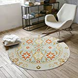 Decorative rugs,Round,Retro pattern,Runner area,Sofa side,Hanging basket blanket,Children mat Home Bedroom,Desk computer chair mat -B Diameter:180cm(71inch)
