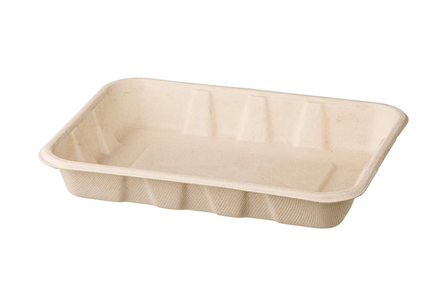 HARVEST PACK 22 oz Compostable Disposable Food Container Serving Trays, Rectangle, Made from 100% Eco-Friendly Plant Fibers [100 COUNT]