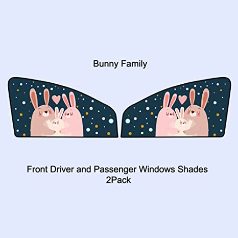 Fabulous Amazon Com Cute Rabbit Car Window Shade For Side And Rear Gmtry Best Dining Table And Chair Ideas Images Gmtryco