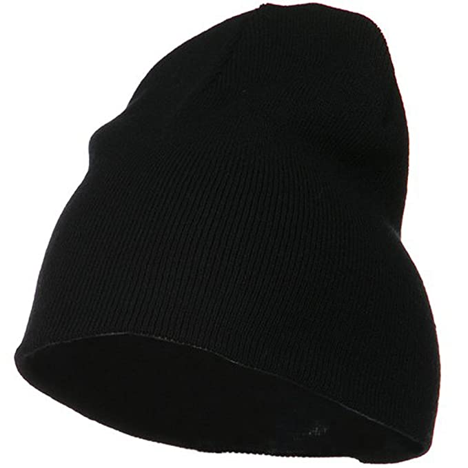 038aca65089 Big Size Acrylic Short Beanie-Black (for Big Head) at Amazon Men s Clothing  store  Skull Caps