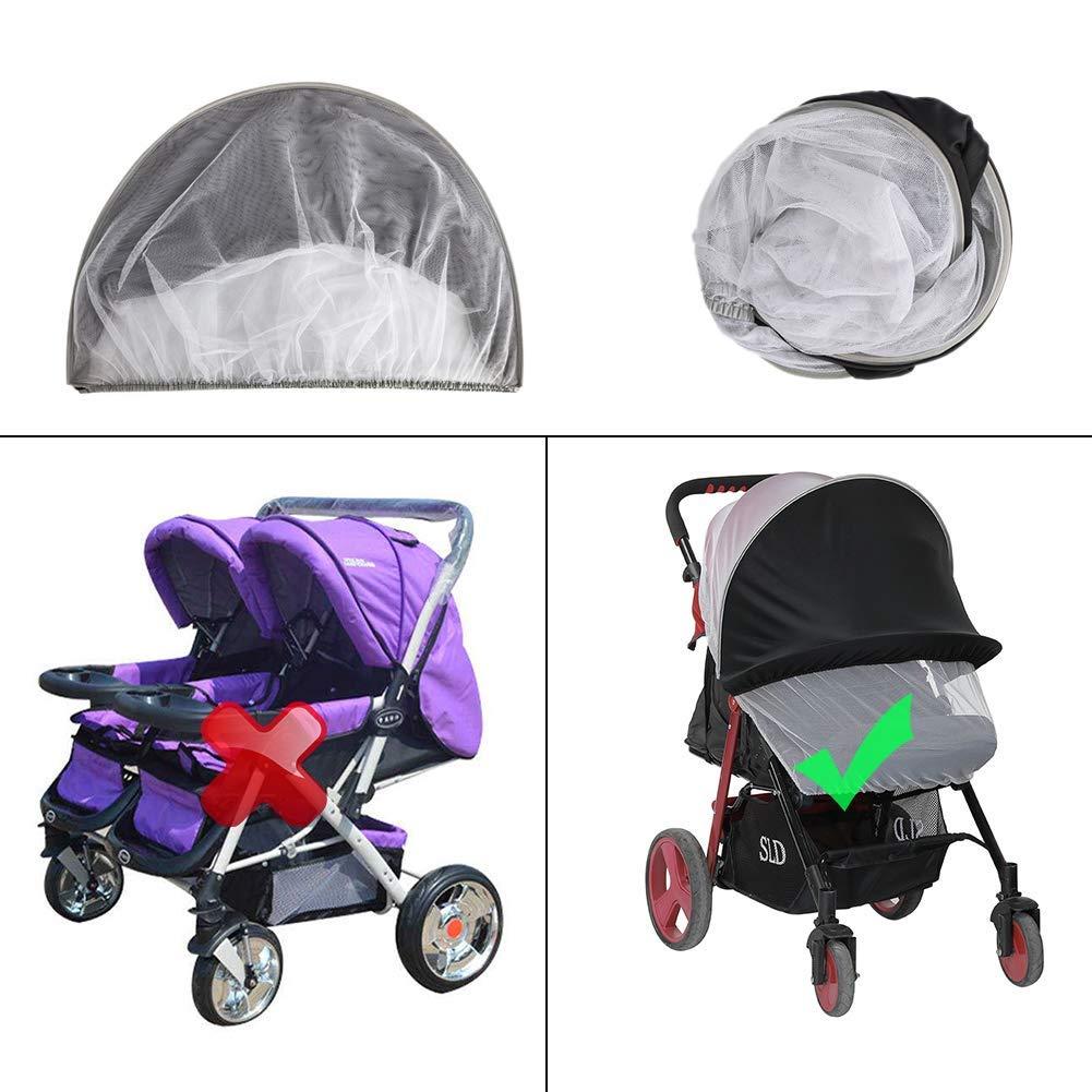 Infant Kinderwagen Sonnenschutz ASEOK Baby Buggy Sun Kinderwagen UV-Schutz Strahlen Cover Vorzelt Schwarz