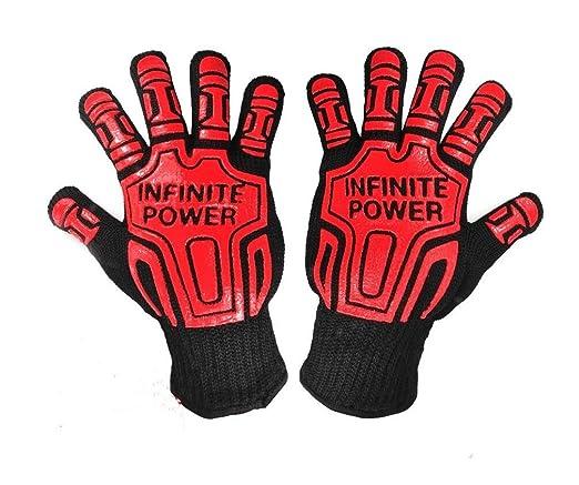 QXWL 500 grados de aislamiento térmico BBQ aramid guantes ...