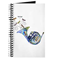 CafePress - Wild French Horn - Spiral Bound Journal Notebook, Personal Diary, Dot Grid