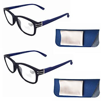 4426771c5258 Modern Navy Blue Reading Glasses 2.5 Strength Aspherics Lens Read Clear No  Blurry with Flexible Thin