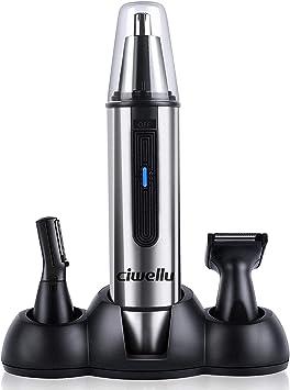 Ciwellu - 3 en 1 Multifuncional Recortador Pelos Nariz/Orejas/Ceja/Barba, Tijeras para nariz oído, Cortapelos Nariz y Oreja, Afeitadora para Nariz Oído y Pelo Facial Cabeza, USB Recargable Waterproof: Amazon.es: Salud y cuidado