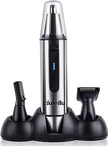 Ciwellu - 3 en 1 Multifuncional Recortador Pelos Nariz/Orejas/Ceja ...