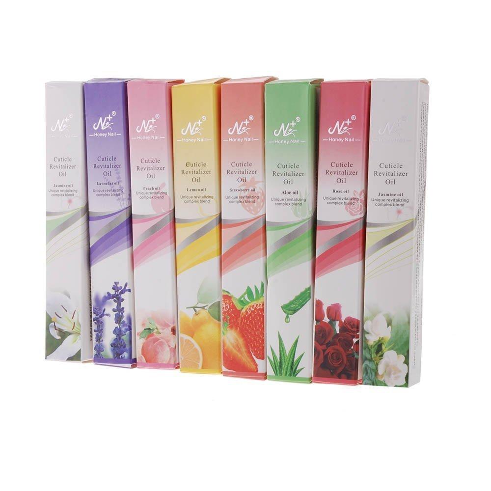 SGerste 8pcs Flavors Cuticle Revitalize Oil Pen Mix Taste Nail Art Treatment Kit Set Salon Nail Oil