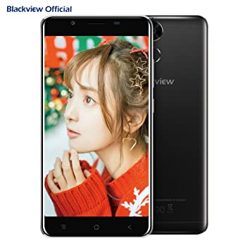 Blackview P2 Dual SIM 4G Unlocked Smartphone 5 5 inch (6000mAh Battery -  4GB RAM + 64GB ROM - MT6750T Octa Core Processor - 13MP + 8 MP cameras) -