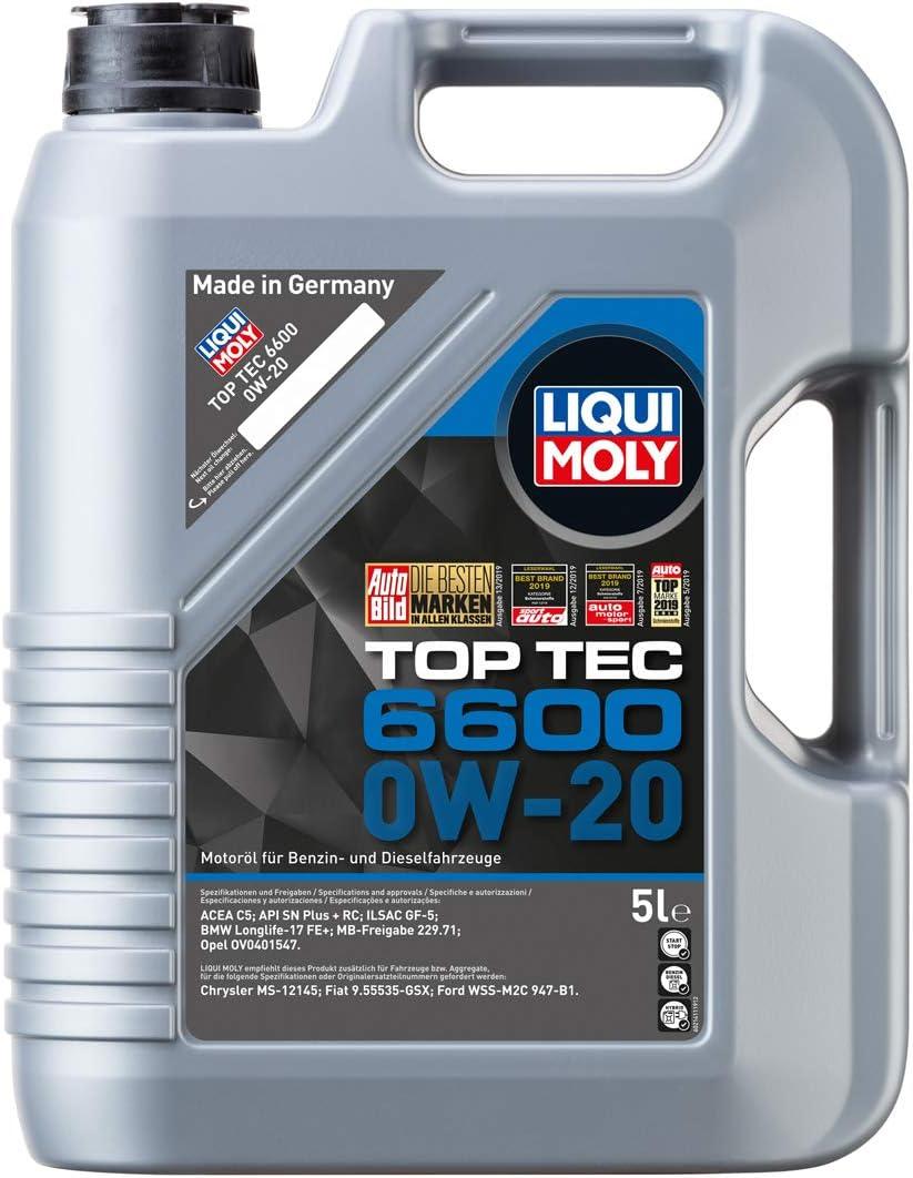 Liqui Moly 21441 Top Tec 6600 0w 20 5 L Auto
