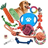 Dog Rope Toys 10 Pack Set Pet Puppy Teething Chew Rope Tug Assortment for...