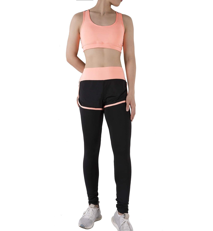 Small, Arancione Chiaro 03 BOTRE 5 Pezzi Tute da Ginnastica Donna Tute Sportive Yoga Fitness Palestra Running Jogging Completi Sportivi Abbigliamento