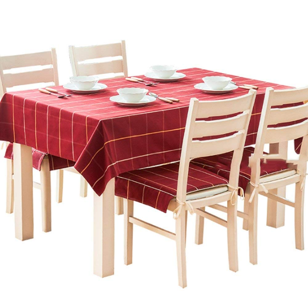 QiXian Tablecloth Table Cover Rectangular Lattice Cloth Tablecloth Family Home Tablecloths Modern Contemporary Simple Fresh Tea Cloth for Wedding Restaurant Party Indoor Kitchen Picnic