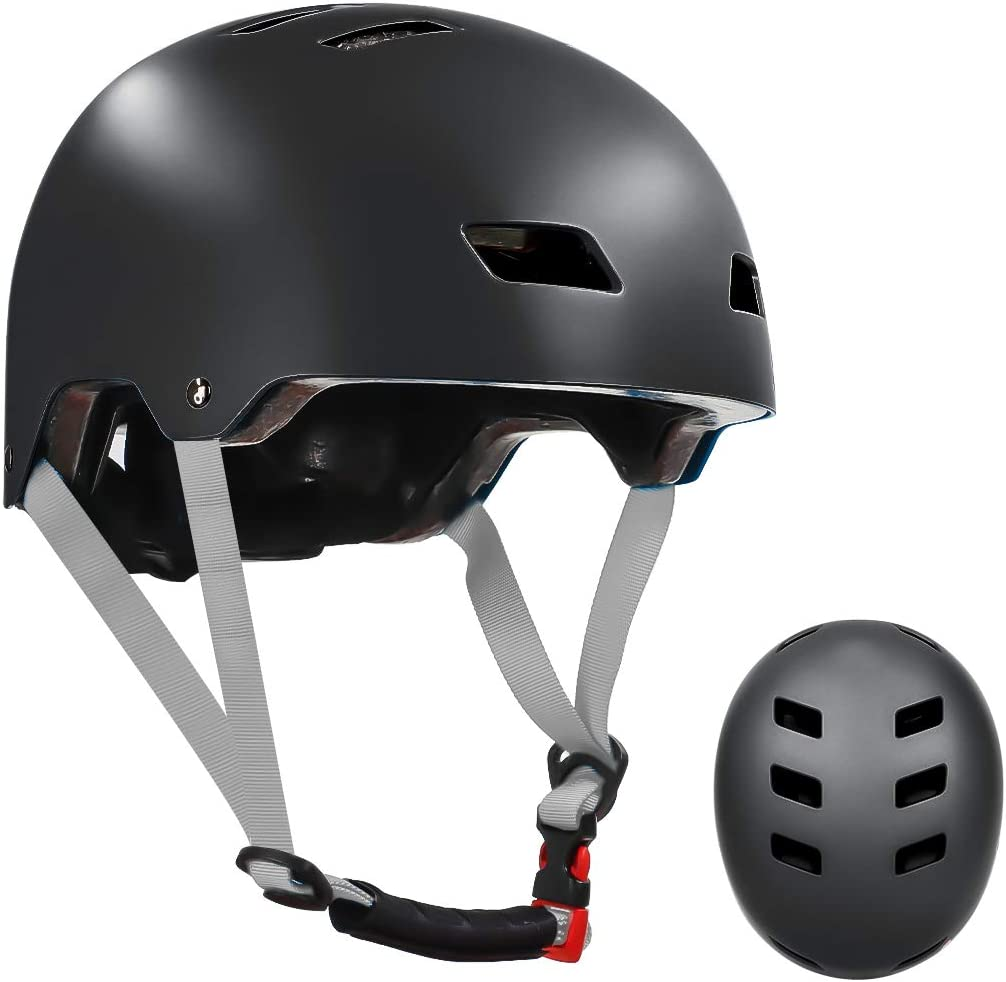 Details about  /Adult Helmet Black w//Flame Cycling Skateboard Scooter Protective Gear