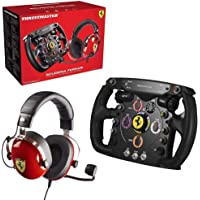 Thrustmaster 4160764 Scuderia Ferrari Race Kit (Lenkrad AddOn, Gaming-Headset, PS4/Xbox One/PC), upp till 25…
