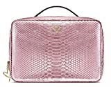 Victora's Secret Four Piece Luxe Pink Python Jettsetter Travel Makeup Case