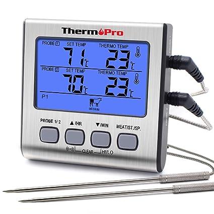 Compra ThermoPro TP17 Termómetro Cocina Digital de Doble ...