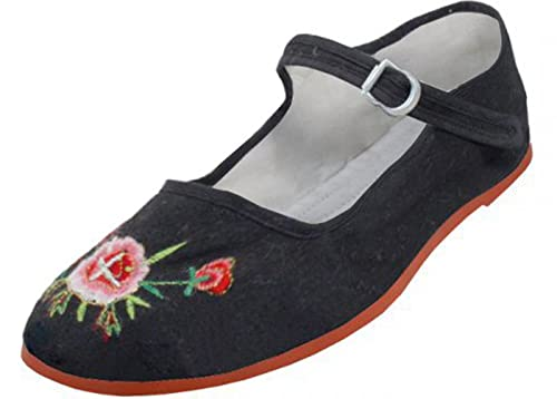 ad41d012755a Womens Cotton Mary Jane Shoes Ballerina Ballet Flats Shoes