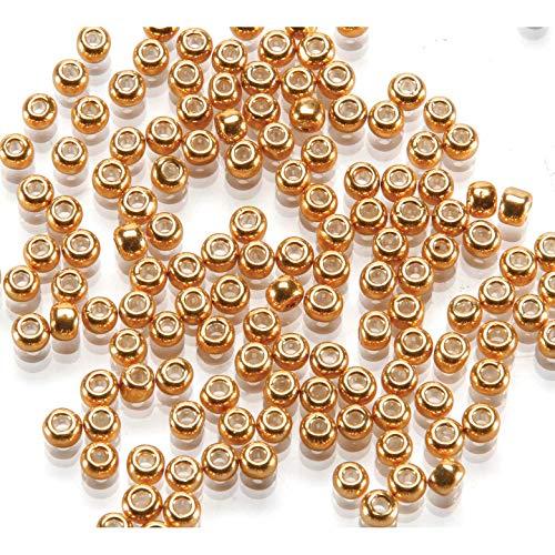 Darice Bulk Buy DIY Toho Japanese Glass Seed Beads Galvanized Gold 6/0 4mm (3-Pack) - Gold Glass Seed