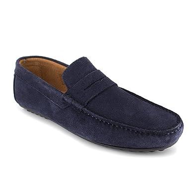Pierre Cardin - Mocasines de Otra Piel Hombre, azul (azul marino), 41: Amazon.es: Zapatos y complementos