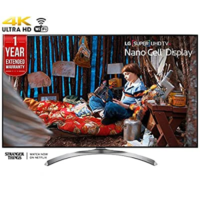LG 55SJ8500 - 55-inch Super UHD 4K HDR Smart LED TV (2017 Model) + 1 Year Extended Warranty (Certified Refurbished)
