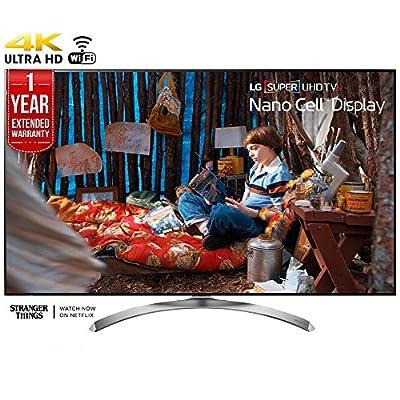 LG 55SJ8500 - 55-inch Super UHD 4K HDR Smart LED TV (2017 Model) + 1 Year Extended Warranty (Certified Refurbished)