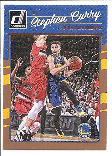 Stephen Curry Golden State Warriors 2016-17 Panini Donruss Bronze Basketball Card #135 - Bronze Basketball