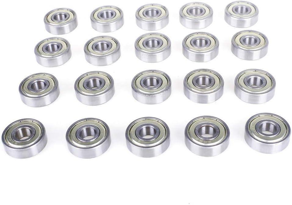 20 PCS 22 ANGEEK 608 ZZ bearing 608ZZ Miniature 608-ZZ Deep Groove ball bearing fidget spinner bearing , Skateboard Bearings in Metal//Double Shielded//Miniature Grooves 8 7mm