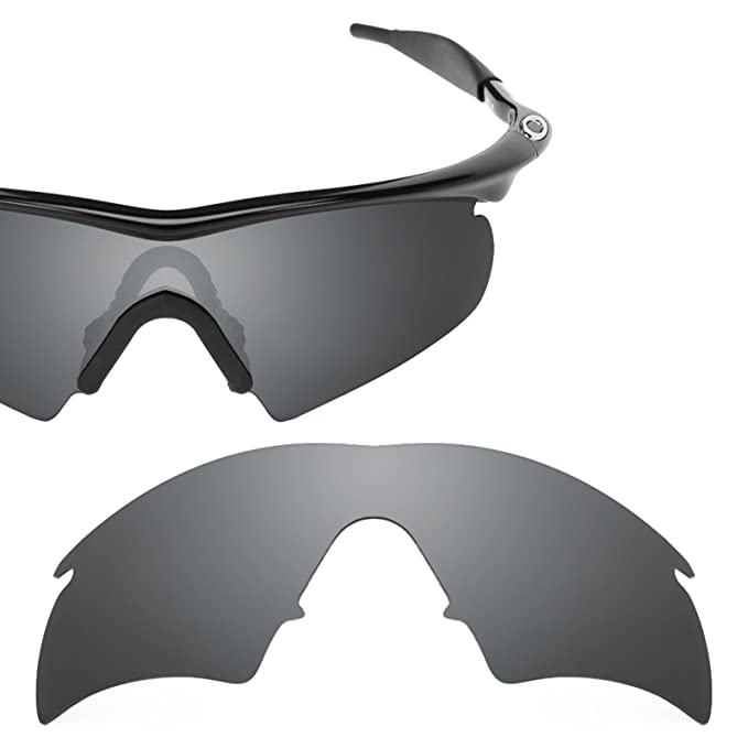 6d916195202 Revant Polarized Replacement Lens for Oakley M Frame Hybrid Black Chrome  MirrorShield
