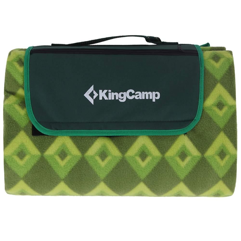 KingCamp Outdoor Blanket XL Waterproof Sand Proof Non-Slip Lightweight Fleece Picnic Mat for Beach, Park, Home, Outdoor Camping
