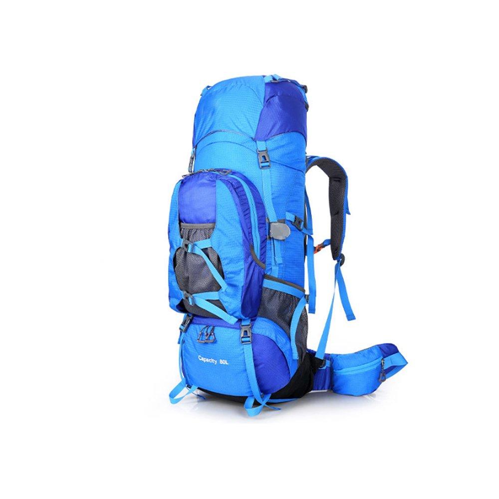 QAR アウトドアバックパック 登山用バッグ 防水バックパック 旅行バッグ レジャー スポーツ バックパック ブルー 003 B07JMGLSDC ブルー