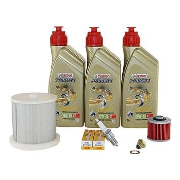 Kit de mantenimiento 10 W-50 de 40, aceite, cárter, filtro de aire y Bujía para Yamaha XV 535 Virago AB BJ 96: Amazon.es: Coche y moto