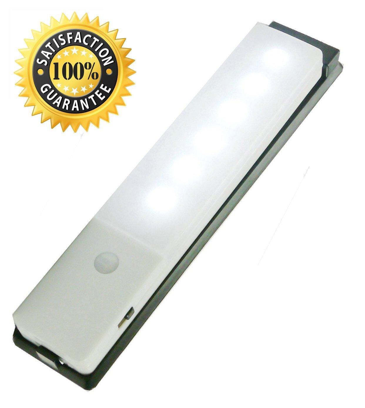 充電式ワイヤレスモーションセンサーライト – JEBSENS t03明るいLED磁気下キャビネット照明、スティックオンポータブルワイヤレスPIR Night Light with 3 M Adhesive、ベースプレート(クールホワイト) B01B7P9YH6 18874