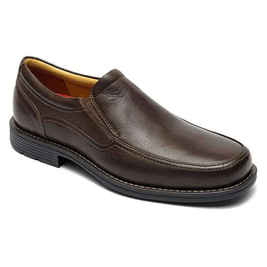 Rockport Mens Liberty Square Twingore Slip On Loafer Shoes, Brown, US 10