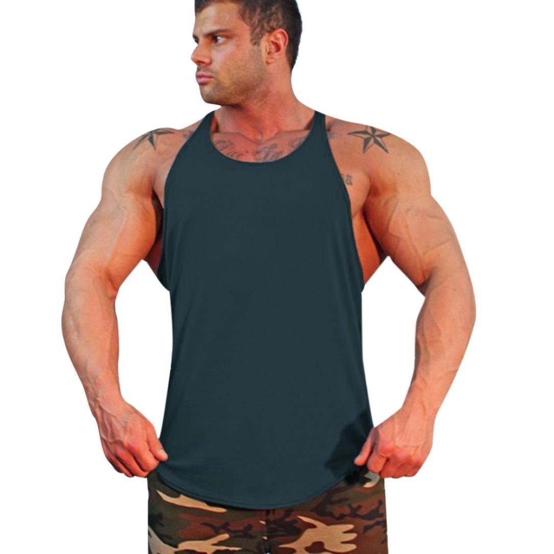 LuckyGirls Camisa Camisetas Originales Hombre Sin Manga Verano Color Sólido Deportivas Blusa Moda Polos Casuales Slim Músculo Remera Chaleco de los Hombres