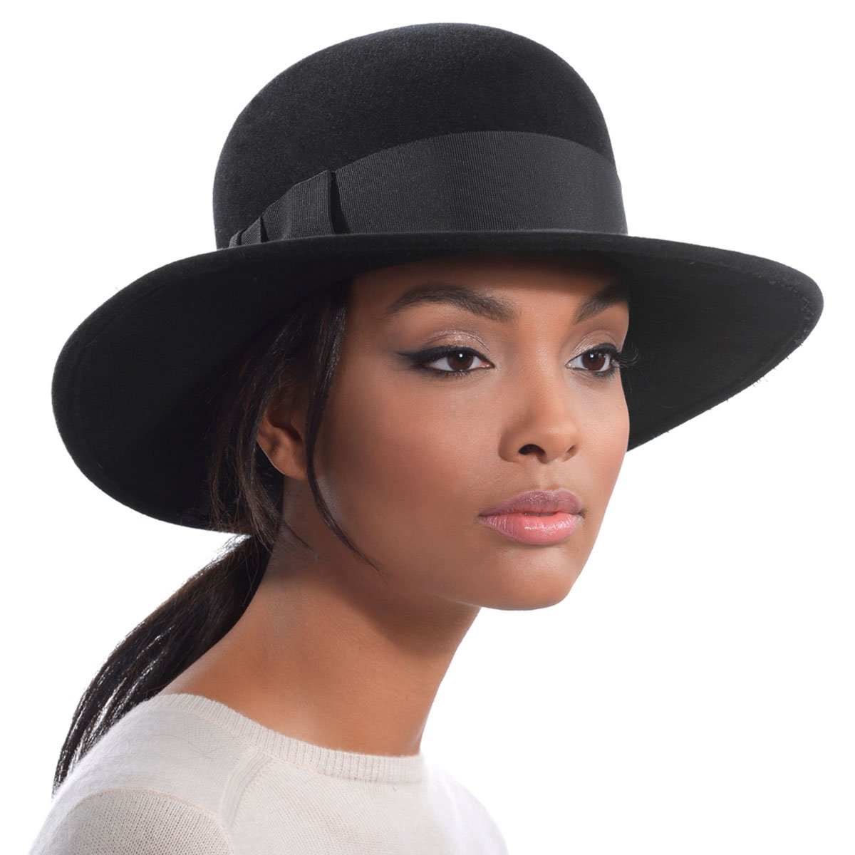 CDM product Eric Javits Luxury Fashion Designer Women's Headwear Hat - Padre - Black small thumbnail image
