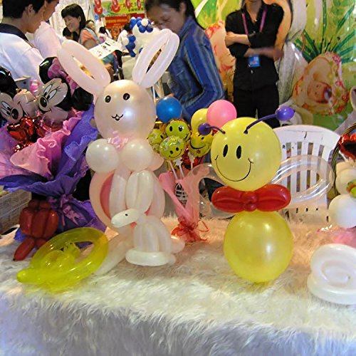 and Events LareinaXXX Twisting Modeling Animal Balloons: 100 Pcs Premium Quality Assorted Color Latex Balloon for Parties Clowns Birthdays