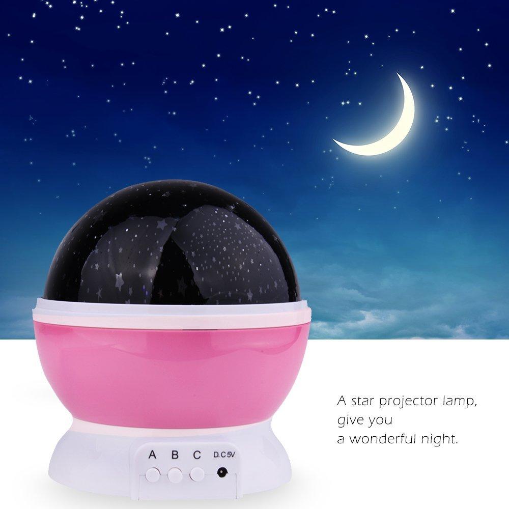Star projector lamp night - Amazon Com Ecandy Constellation Night Light Projector Lamp 360 Degree Rotating 3 Mode Romantic Cosmos Star Sky Moon Bedroom Light For Children Baby