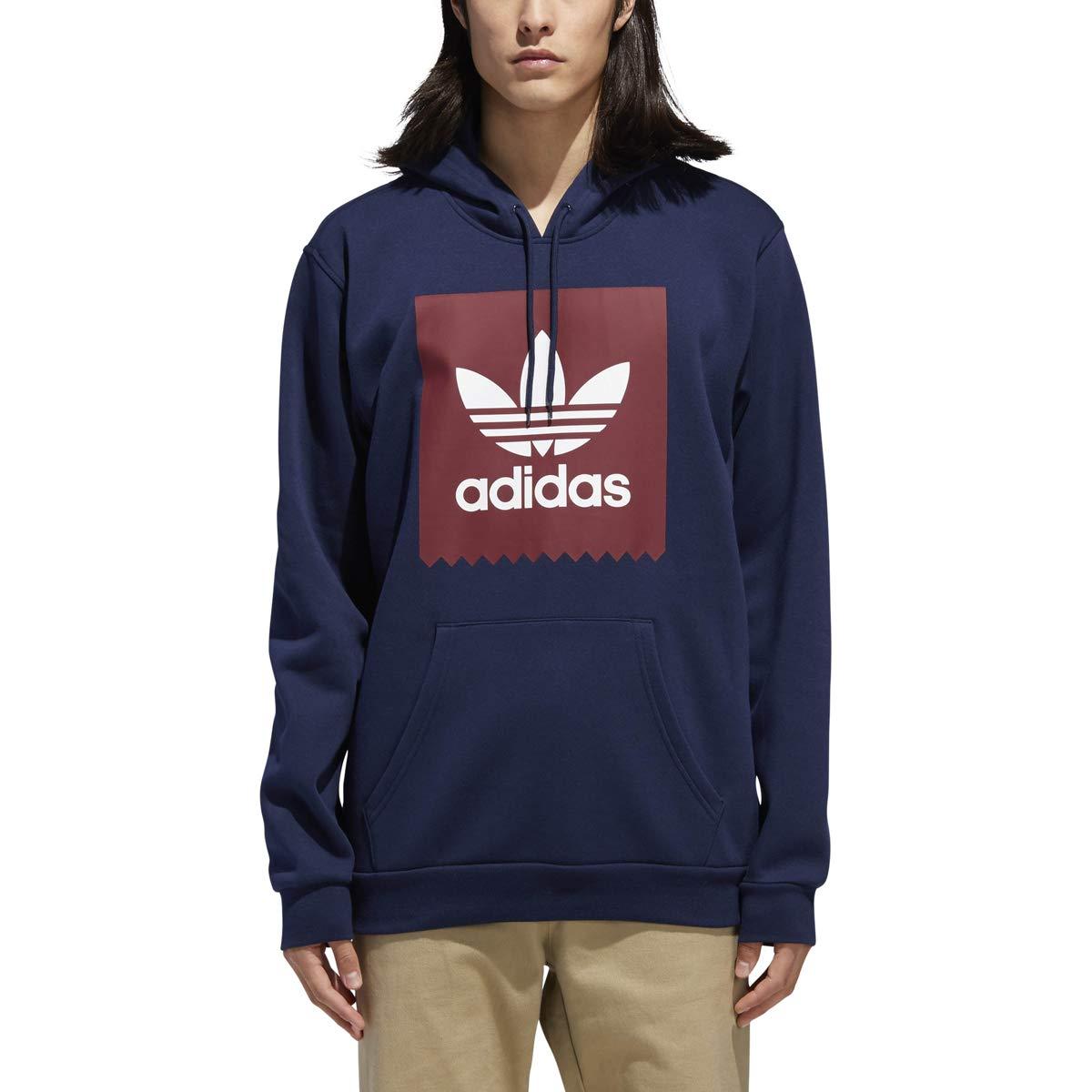 adidas Originals Men's Solid Bb Hoodie, Navy/Collegiate Burgundy/White, XS by adidas Originals