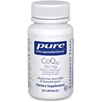 Pure Encapsulations CoQ10 120 mg | Coenzyme Q10 Supplement for Energy, Antioxidants, Brain and Cellular Health, Cognition, and Cardiovascular Support* | 30 Capsules